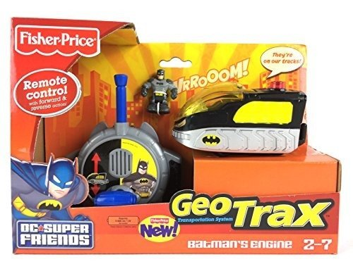 Fisher-Price GeoTrax DC Super Friends Turbo Remote Control Vehicle - Batman's Engine by Fisher-Price (Control Engine)