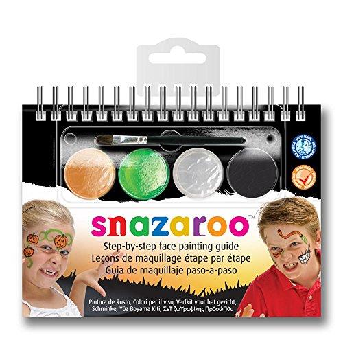 Snazaroo - Manual A6 de maquillaje con pintura facial y guía para pin