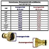 Wasserzulaufleitung Universal Anschluss-Set für Kühlschrank Side by Side. Wasserschlauch 6,4mm(1/4″) - 9