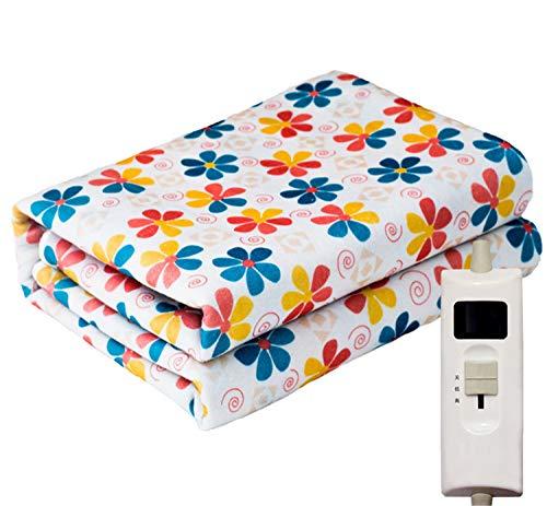 SKQC Heizdecke, beheizte Decke waschbar Polyester Matratzenbezug Controller Schnellaufheizzeit Überhitzung Sicherheitsschutz