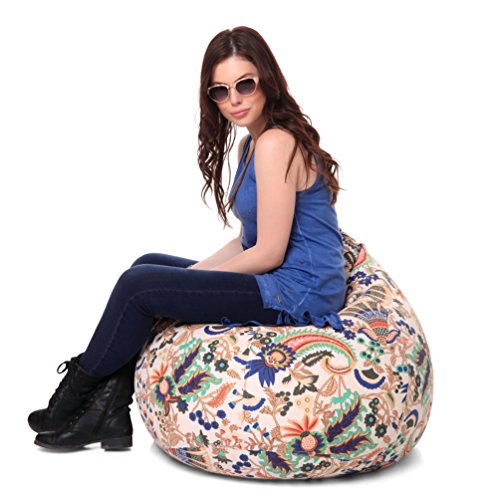 Style Homez Classic Cotton Canvas Floral Printed Bean Bag XL Size Cover Only  available at amazon for Rs.1249