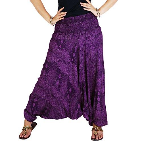 authenticasia-water-drop-collection-super-soft-loose-jinnie-harem-pants-jumpsuit-wtd-02-purple