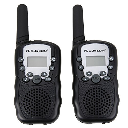 FLOUREON PMR Funkgerät Walkie Talkies 8 Kanäle Walki Talki Funkhandy Interphone mit LC-Display Schwarz