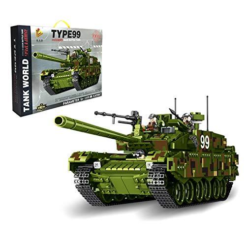Yyz Militärische Serie China 99 Typ Kampfpanzer Modell Spielzeug Kinder Puzzle montiert Partikel Bausteine   Geburtstagsgeschenk