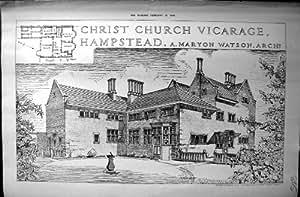 costruttore 1906 di architettura di hampstead maryon