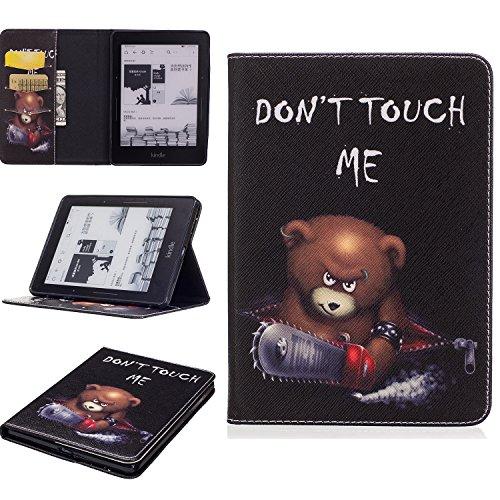 Für Kindle Voyage Hülle,SKYXD Leder Klappbar PU Folio Klappbar Schutzhülle [Auto Schlaf/Wach Funktion] Standfunktion Magnet Klapphülle Zubehör Handy Tasche für Kindle Voyage eReader 6.0