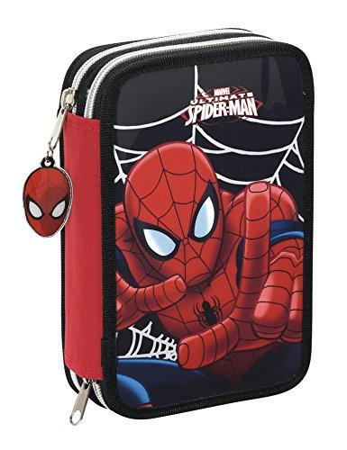 Marvel Spider-Man – Plumier Doble pequeño, 34 Piezas (SAFTA 411412054)