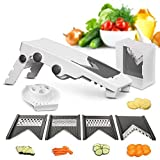 Mueller Austria V-Pro 5 Blade Adjustable Mandoline Slicer – White/Grey at amazon