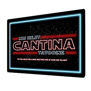 """Artylicious Metall-Wandschild mit Aufschrift """"Mos Eisley Cantina, Tatooine"""", A4-Wandtafel"""