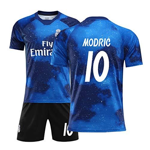 Jugend Kostüm Fußball - FNINES Fußball-Kostüm Real Madrid Jersey No. 7 C Ronaldo Fußball Sportswear T-Shirts Und Shorts Kinder Und Jugend Größe,B,20