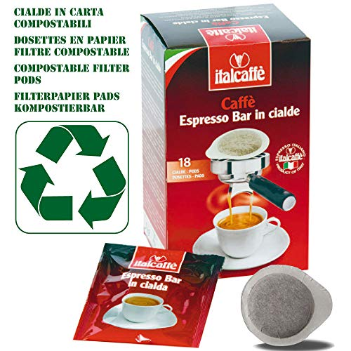 216 Cialde Caffè ESE 44mm Italcaffè Espresso Bar in Carta Filtro Compostabile
