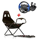 MadridGadgetStore® Pack Playseat Challenge + Volante + Pedales Thrustmaster T150 RS para PlayStaion 4 3 Xbox One 360 Mac PC Wii