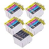 PerfectPrint T0715 Cartuchos de tinta compatibles para impresora Epson, 20 piezas (4x5)