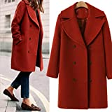 Best Trench Coats - VENMO Women Winter Overcoat Long Sleeve Ladies Double-Breasted Review
