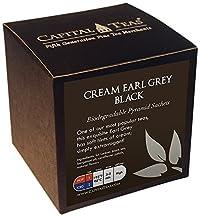 Capital Teas Tea Sachets, Cream Earl Grey Black, 20 Count
