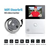 GISION Anti-pío inteligente inalámbrico WIFI Vedio timbre con pantalla de 2.8 pulgadas de dos vías de audio sensor de movimiento de visión nocturna para el hogar Securuty