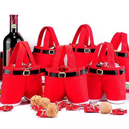FATO. Frohe Weihnacht-Geschenk Saures Süßigkeit Weinflasche Tasche Weihnachtsmann-Hosenträger-Hosen-Hose-Dekor Christma