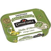 Connétable Sardines sans eretes huile d'olive La boîte de 140g - Prix Unitaire - Livraison Gratuit Sous 3 Jours