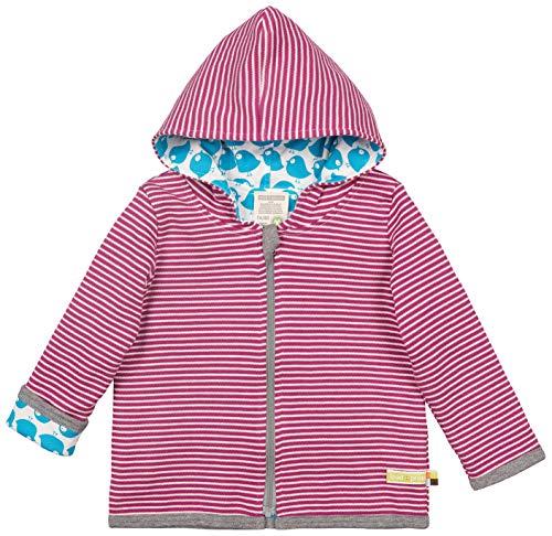 loud + proud Unisex Baby Wendejacke aus Bio Baumwolle, GOTS Zertifiziert Jacke, Violett (Orchid or), (Herstellergröße: 62/68) Mode Jacke