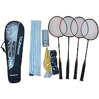 Rucanor 2 Spieler Badminton Set 2 Schläger Transporttasche Federball 100% Original Badminton