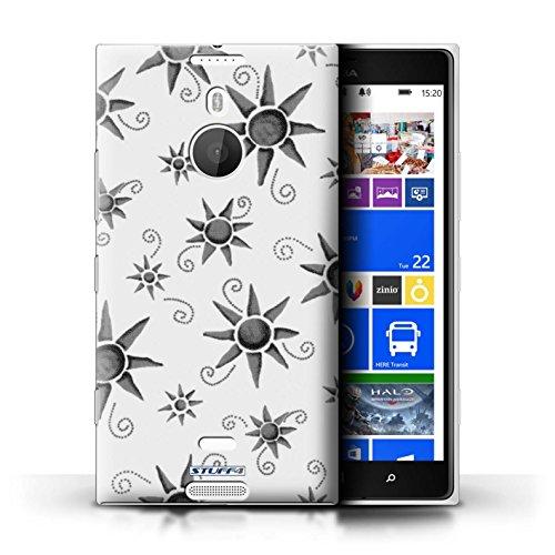 Kobalt® Imprimé Etui / Coque pour Nokia Lumia 1520 / Violet/Blanc conception / Série Motif Soleil Noir/Blanc