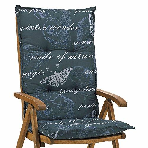6 Hochlehner Auflagen 8 cm dick 120 cm lang in grau Ibiza 40240-700 ohne Sessel