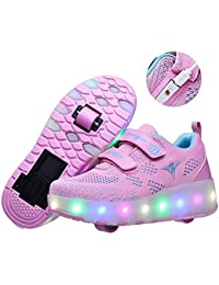 SERAPH SHOES Recollect Unisex Led Luz Automática de Skate Zapatillas con Ruedas USB Cargando Zapatos Patines