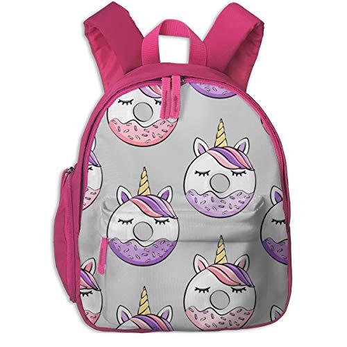 Zaino per bambini 2 anni,Ciambelle all'unicorno (viola e rosa) Grey_4866 - littlearrowdesign, Per le scuole per bambini Panno oxford (rosa)