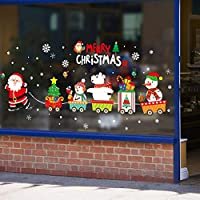 Vektenxi Christmas Window Stickers Merry Christmas Wall Sticker Wall Removable Mural Premium Quality