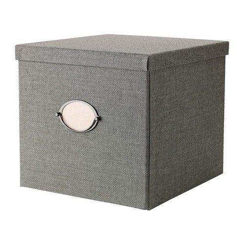 IKEA KVARNVIK Kasten mit Deckel; in grau; (32x35x30cm)