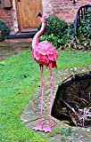 100 cm Metal Pink Garden Pond Flamingo Party Ornaments Decoration free standing