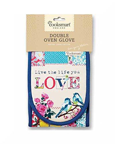 Isoliert 100% Baumwolle Doppel Ofen Handschuhe von Cooksmart Oriental Patchwork