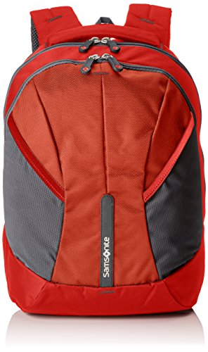 Imagen de samsonite 4mation laptop backpack l  tipo casual, 34 litros, color rojo/gris, 45.5 cm