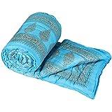 GRJ India Jaipuri Lightweight Pure Cotton Double Bed Quilt - Multicolour