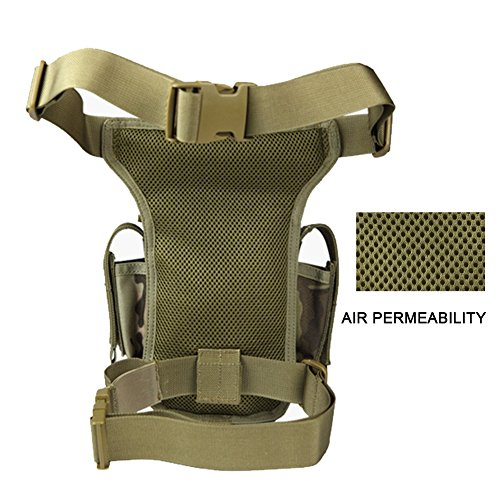 Gratis Soldier Mehrzweck-Tactical Drop Leg Tasche Utility Pouch Oberschenkel Tasche Braun
