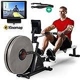 Sportstech Rameur RSX600 ergomètre Machine à Ramer à air + Freins magnétiques, Ceinture Cardio d'une Valeur DE 39,90€, Applications Fitness, 16 programmes d'entraînement, Mode de compétition, Pliable...