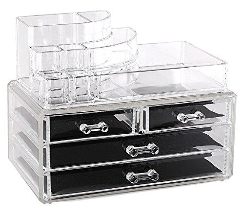 Estilo 100% puro acrilico cosmetici e gioielli organizer, Storage display box