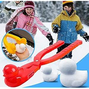 FeiliandaJJ Schneeballzange,Süß Ente Schnee Zangen Kinder Baby Winter Outdoor Spielzeug Schneeballschlacht Snowball Maker Strandspielzeuge