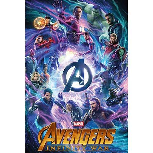 WYF Avengers Poster Puzzle, Infinity War Movie Stills, 300/1000 Maxistücke für Mädchen Erwachsene Kinder Frauen P609 (Color : F, Size : 1000pc) - Teile 300 Puzzle York New