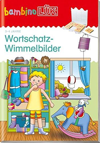bambinoLÜK-System: bambinoLÜK: Wortschatz-Wimmelbilder: Einkaufen, Essen, Kleidung
