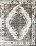 Nain Trading Vintage Royal 390x296 Orientteppich Teppich Dunkelgrau/Dunkelbraun Handgeknüpft Pakistan Design Teppich Modern