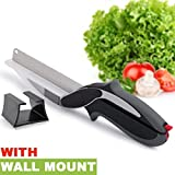 Olypex Deluxe Clever Cutter 2-in-1 Food Chopper Multifunction Kitchen Vegetable Scissors Cutter