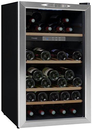 Amazon CLIMADIFF. Cave à vin de service - 1 temp. - 52 bouteilles - Noir ... 543f03143b6e