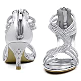 SheSole Ladies Wedding Heeled Strappy Sandals