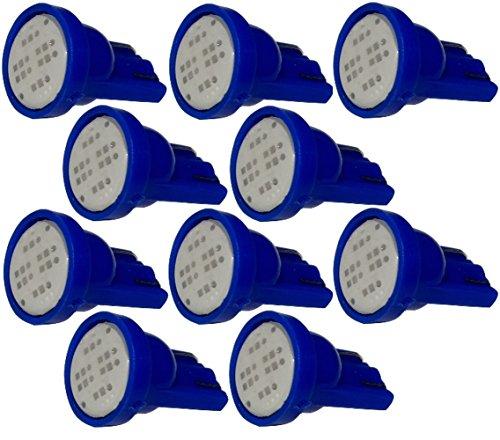 AERZETIX: 10x Ampoule T10 W5W 12V LED COB 2W Bleu veilleuses éclairage intérieur seuils de Porte plafonnier Pieds Lecteur de Carte Coffre Compartiment Moteur Plaque d'immatriculation minéralogique