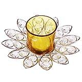 Creativity Creations Diwali Auspicious Silver N Yellow Diya Set With Tealight