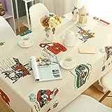 LIUSHIJITUAN Rechteck Fluidsysteme Cartoon Garten-Stil Tischdecken,Kind [esstisch] Schreibtisch Tischdecken Haushalt Küche Picknick Tischtuch-B 100x160cm(39x63inch)