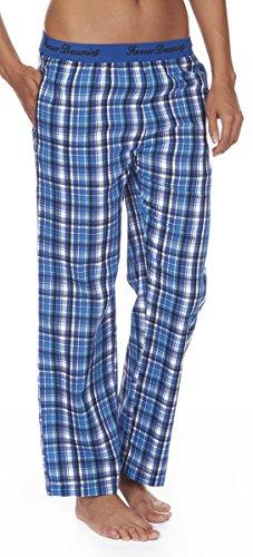 Forever Dreaming, pantaloni del pigiama da donna in tessuto jacquard, con elastico in vita Royal Blue