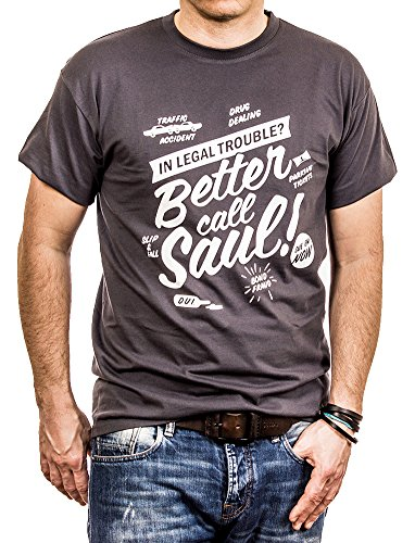 Maglietta Better Call Saul - T-shirt Breaking Bad uomo grigio M
