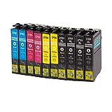 Multipack - 10 XL cartouches d'encre compatibles avec Epson T2701-04 avec CHIP pour WF - WF DWF 3620-3620 WF WF - WF DTWF 3640-7110 -7610 DWF DTW WF WF - 7620 DTW